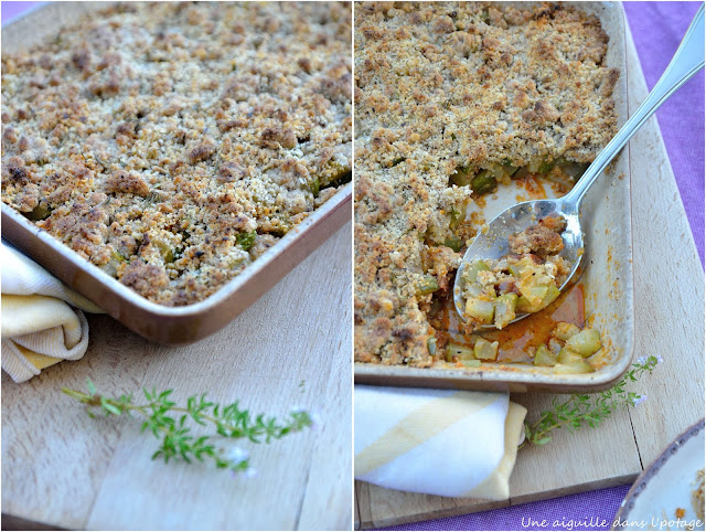 crumble courgette chorizo