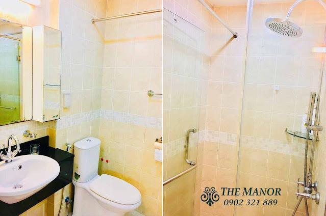 Phòng tắm căn hộ studio cho thuê giá rẻ tại chung cư The Manor