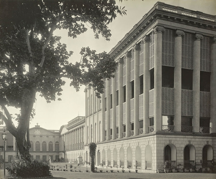The Palace from the south side - Burdwan (Bardhaman), Bengal, 1904