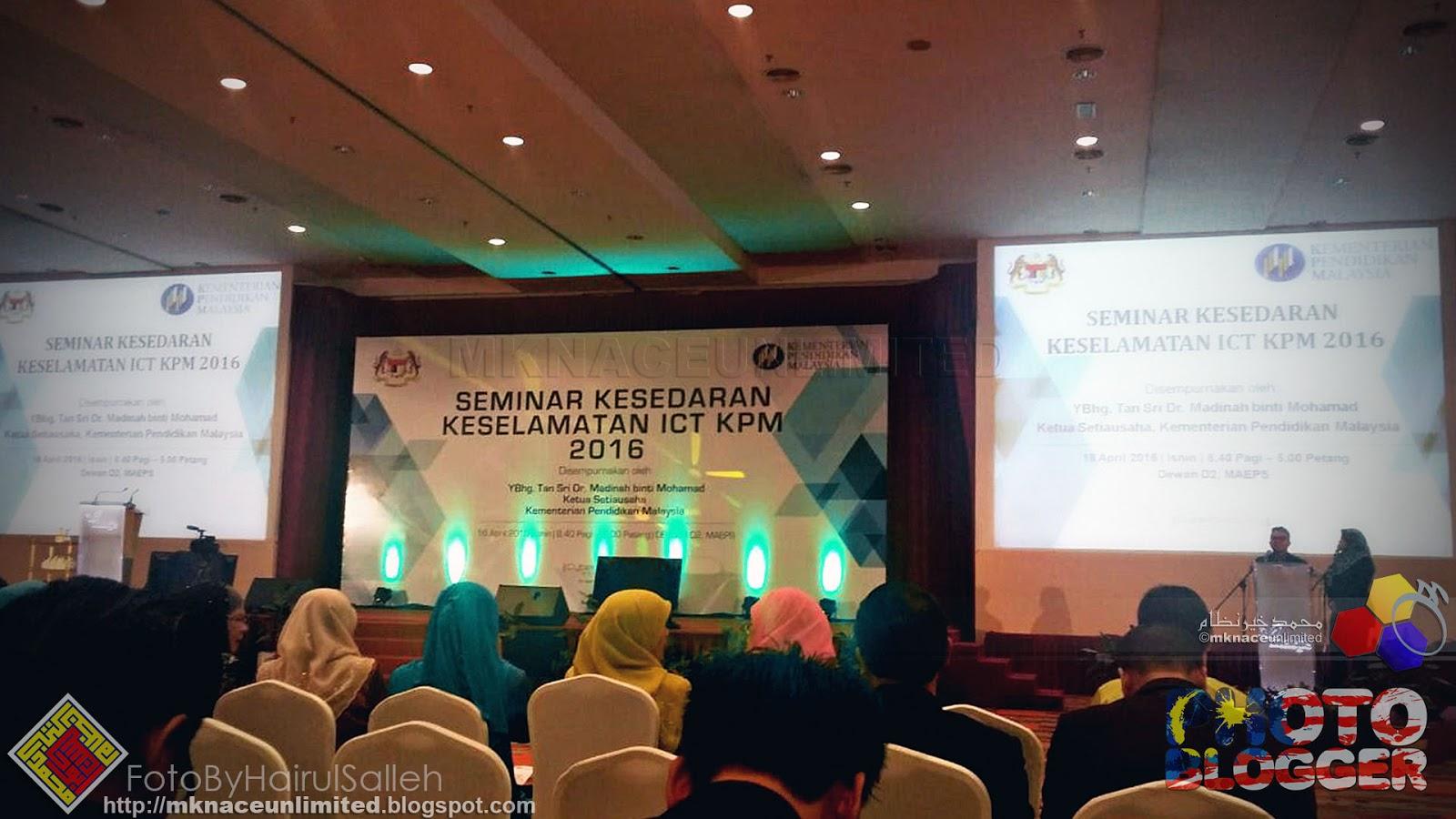 SEMINAR KESEDARAN KESELAMATAN ICT KEMENTERIAN PENDIDIKAN MALAYSIA (KPM) 2016 1684f99e09