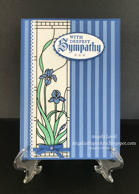 Stampin' Up! Painted Glass card by Angela Lovel, Angela's PaperArts