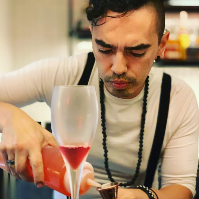 mixologist at work, Terra Terra, Finchley Road, London
