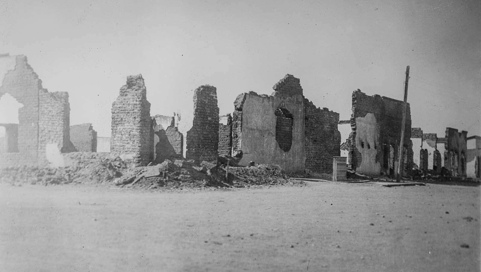 Ciudad Juárez homes destroyed by grenades.