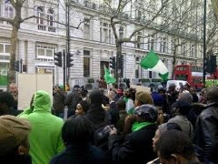 UK based Nigerians at the Nigeria High Commission UK, demanding to see PMB [Photos]