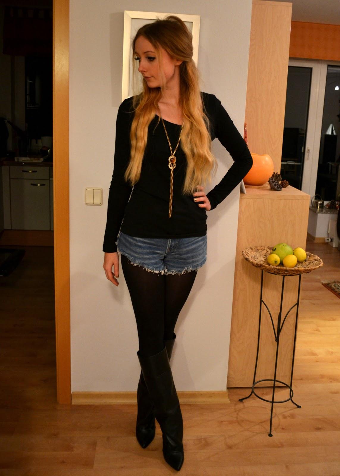 Federherzen Outfit Fringe Boots