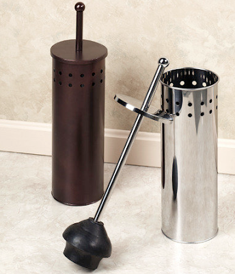 tall lidded storage for a plunger