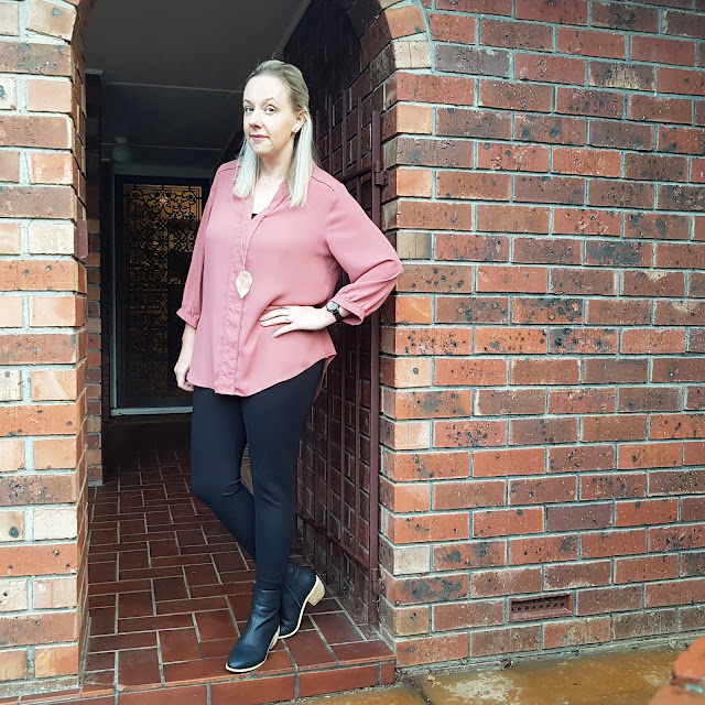 katies shirt, kmart ponte pants | Almost Posh