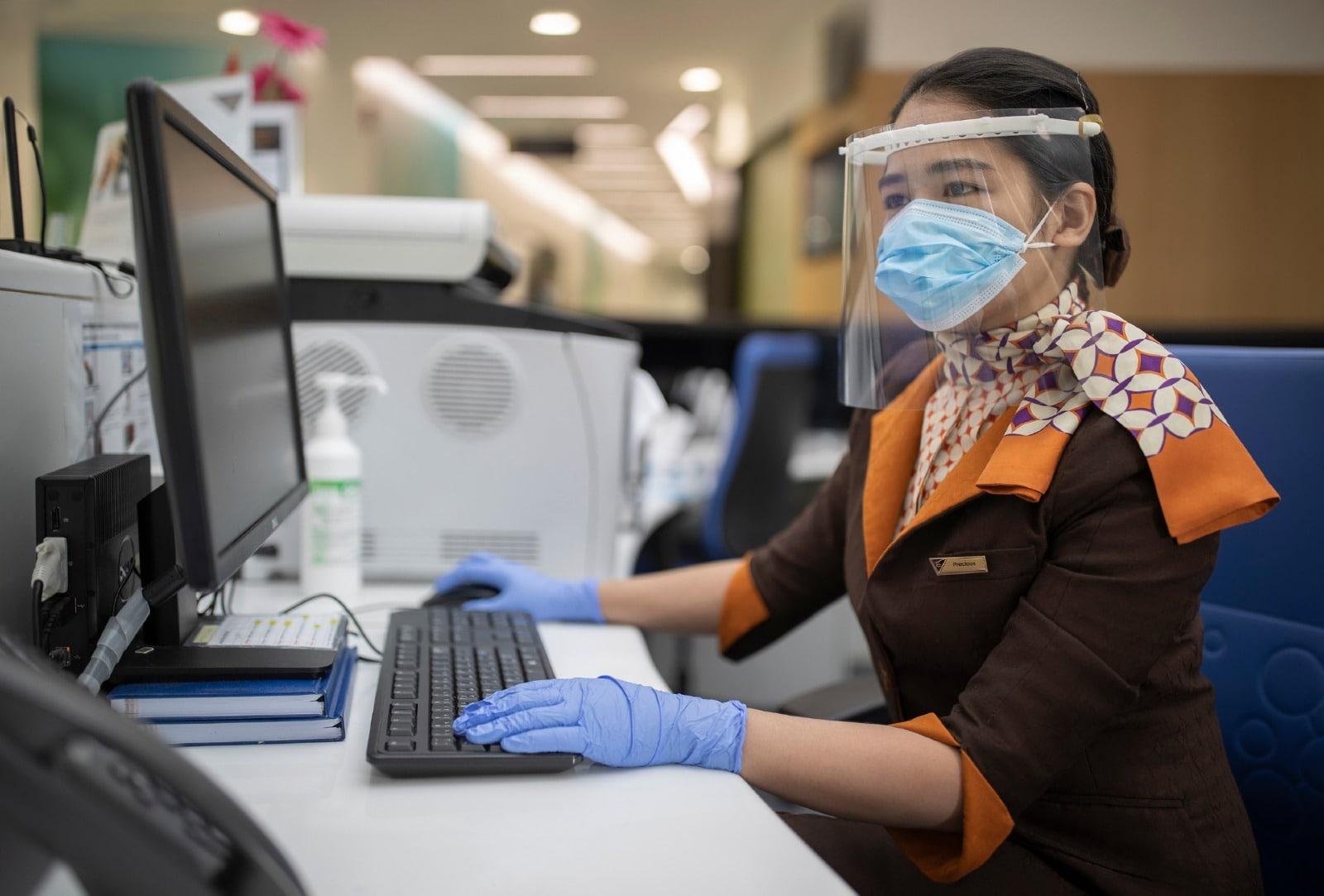 Etihad Airways Check-in Counter Staff