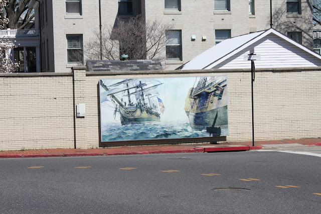 Love this incredible seascape street art at the U. S. Naval Academy