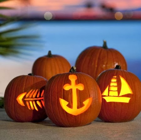 coastal carving Jack O Lanterns