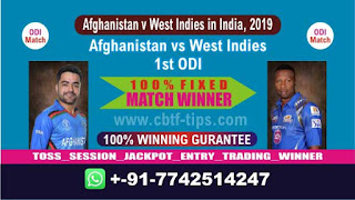 Who will win Today 1st ODI, Match AFGH vs WI , Cricket Match Free Tips