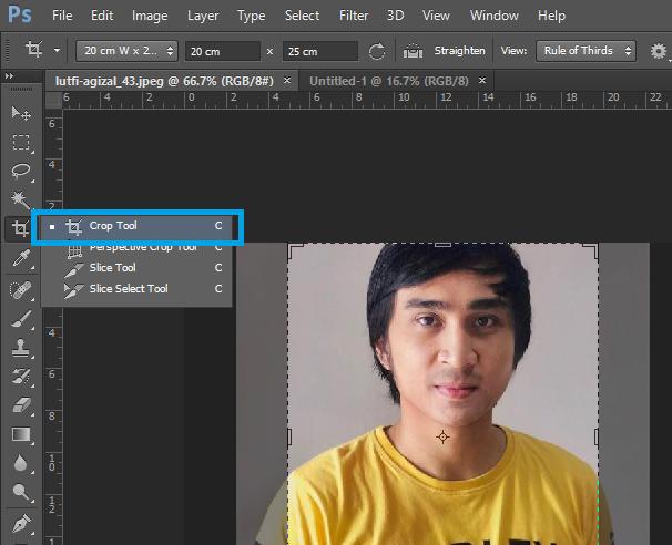 Cara Membuat Pas Photo Ukuran 2x3 3x4 4x6 Di Photoshop