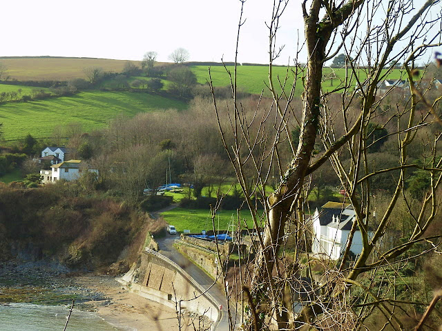 Countryside looking from Porthpean cliff top.