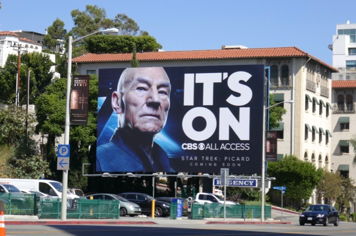 Picard Its On CBS All Access billboard