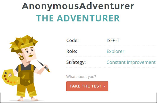 Taking a personality test to understand myself