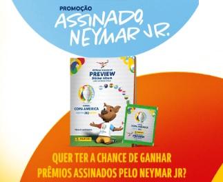 Cadastrar Promoção Panini Assinado Neymar Jr. Camisas da Seleção e Figurinhas