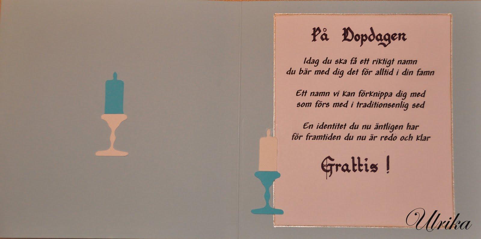 grattis till dopet Papper & Spets: Dopkort grattis till dopet