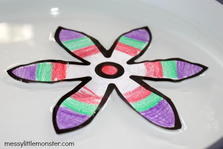 magic paper flower craft