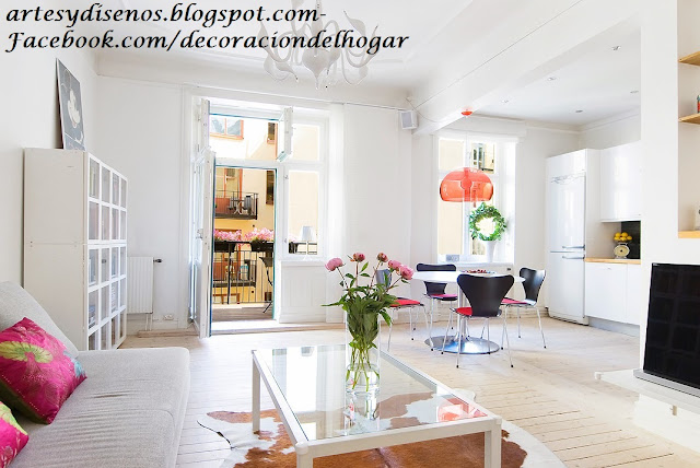 AMBIENTES DE COLOR BLANCO by artesydisenos.blogspot.com