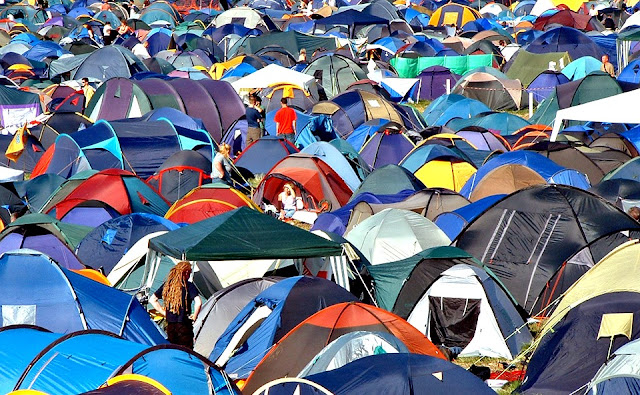 Festival tents - re-use your don't, don't discard it