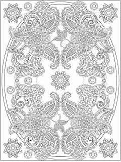 wonderful flower coloring pages for adult
