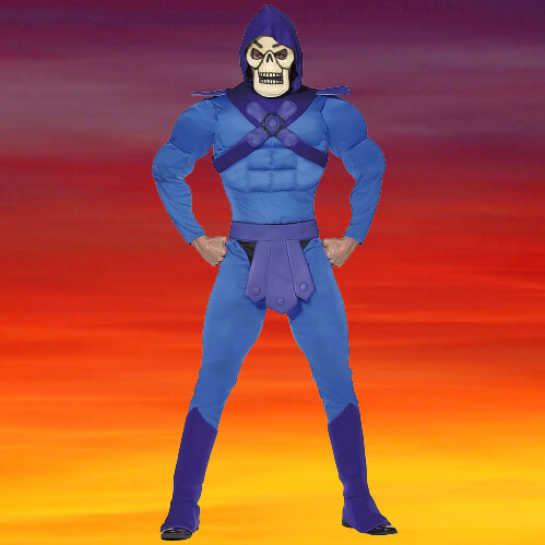 SEP 21 - This SKELETOR COSTUME is perfect for an 80s halloween theme.