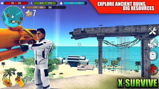 تحميل لعبة X Survive: Crafting & Building Sandbox مهكرة للاندرويد اخر اصدار