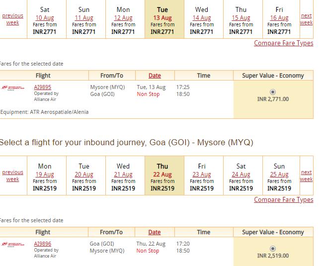 Air India Flights From Mysuru To Hyderabad Goa And Kochi The Airline Blog