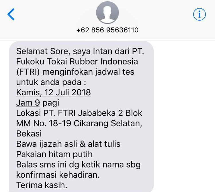 Info lowongan kerja Pt Fukoku Tokai Rubber Indonesia Operaator Produksi SMK/SMA 2018