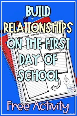 Making time to connect and build personal relationship with students back to school free activity
