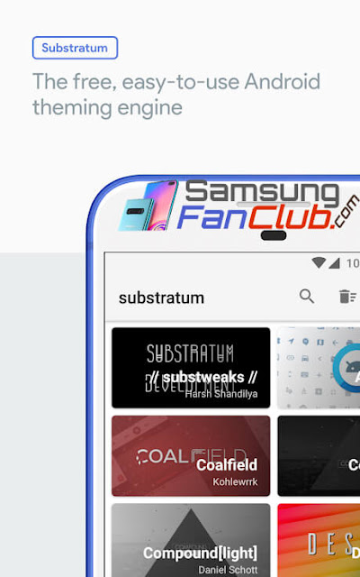 Substratum Theme Engine App for Samsung Galaxy S7, S8, S9 with Android 8 Oreo