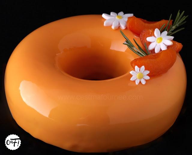 entremets abricot romarin