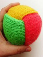 patron gratis pelota amigurumi de punto