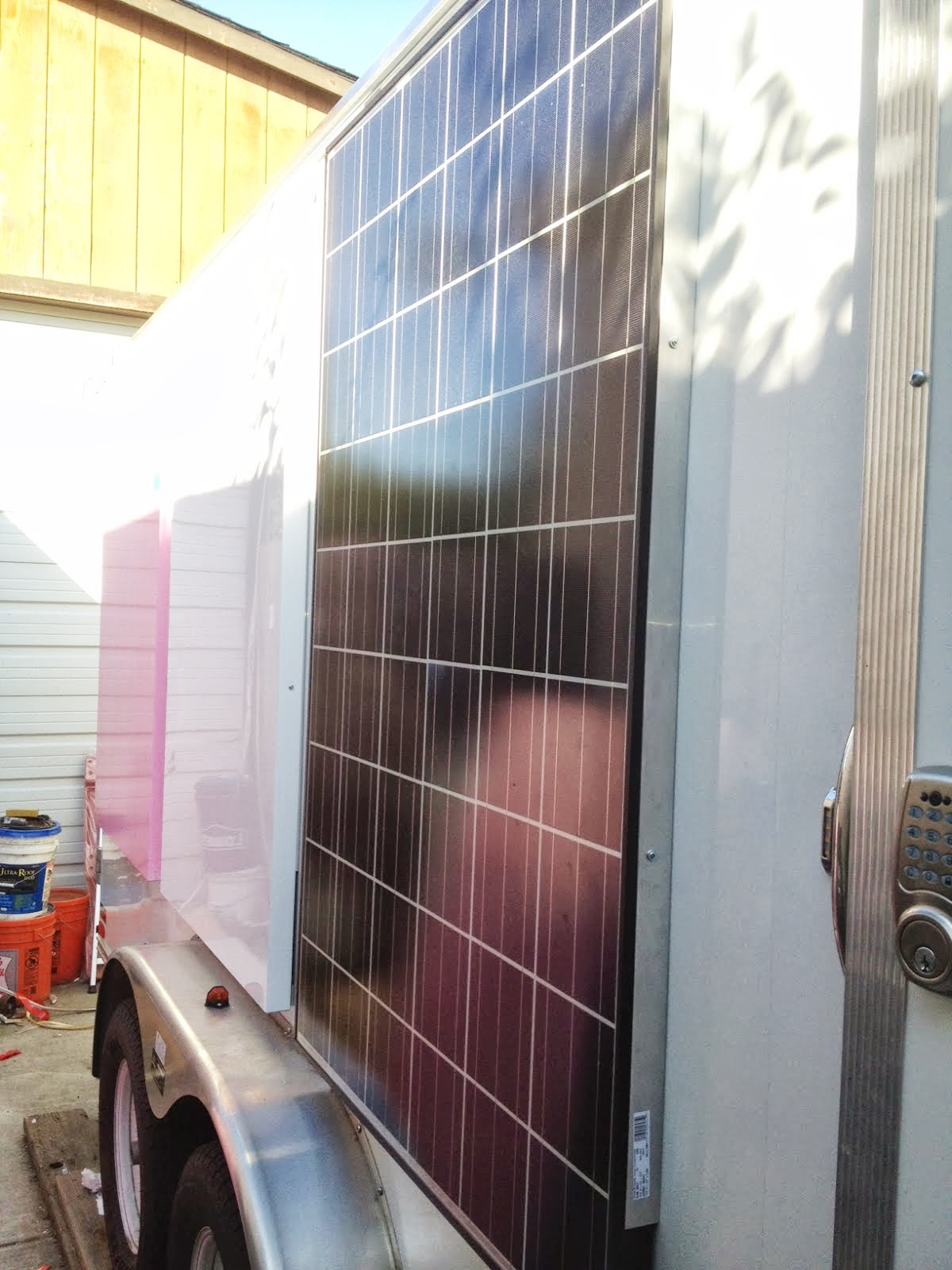 Solar Heated And Cooled Over The Top Cargo Trailer More Solar Wiring
