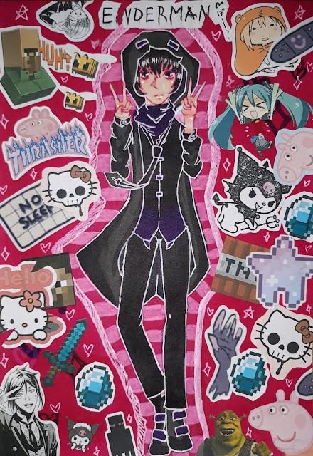 Anime manga kolaż