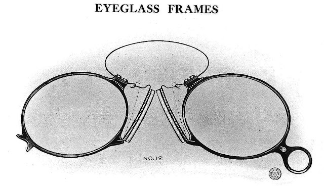A photograph of 1916 Teddy Roosevelt style eyeglasses