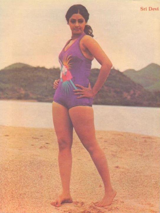 sridevi hot bikini photos
