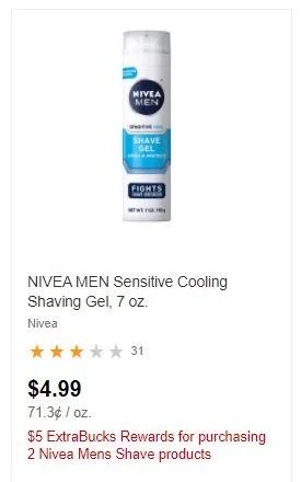 FREE Nivea Shave Gel CVS Deals 4/11-4/17