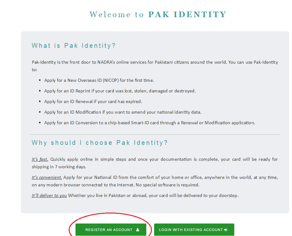 Nadra Online Application Guide