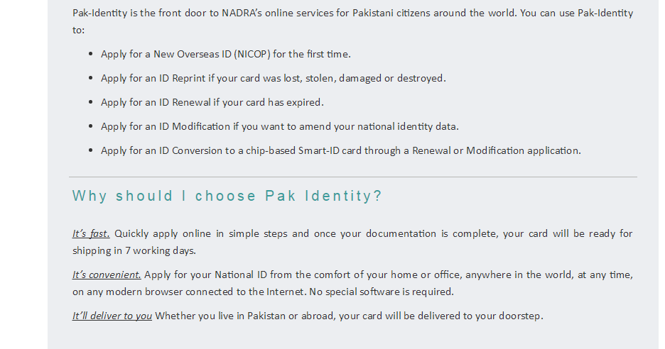how to cancel nadra application pakistan