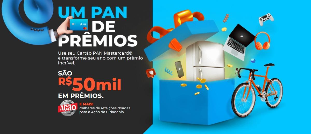 Promoção Um PAN de Prêmios Cartão Pan Mastercard 2021