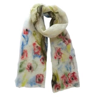 Te Orchard Blossom Handmade Merino Scarf by Mimi Pinto on Amazon UK