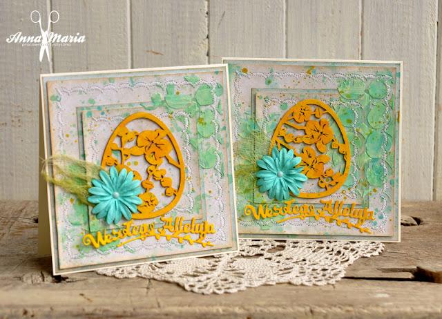 Wielkanocne kartki z pisankami