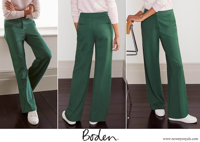 Princess Stephanie wore Boden Hampshire Ponte Trousers