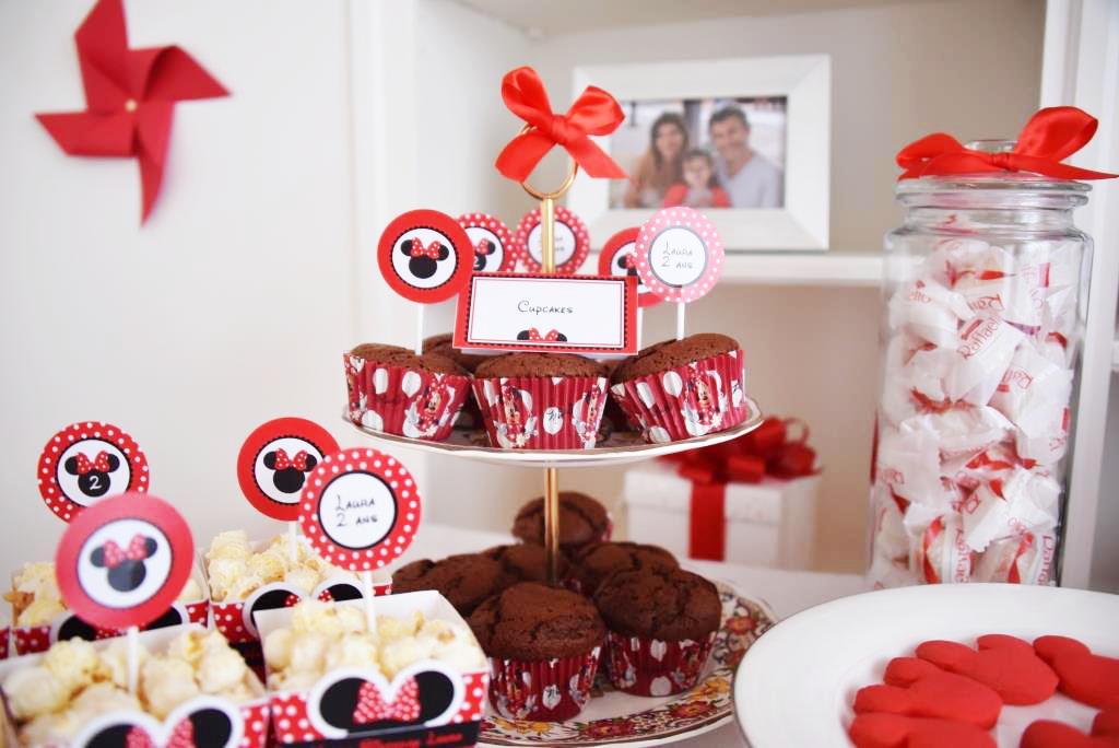 Cupcakes chocolat thème Minnie