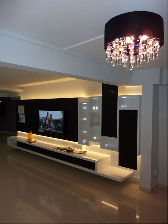 Tv Unit In Living Room: Luxury TV Wall Units For Your Living Room That Will Drive