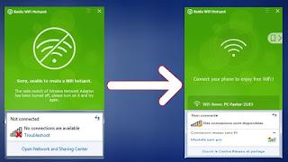 حل مشكلة برنامج Baidu WiFi Hotspot مع ويندوز 10 عدم توزيع الواي فاي من الكمبيوتر