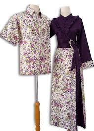Model Baju Batik Pesta Muslim Couple Keluarga