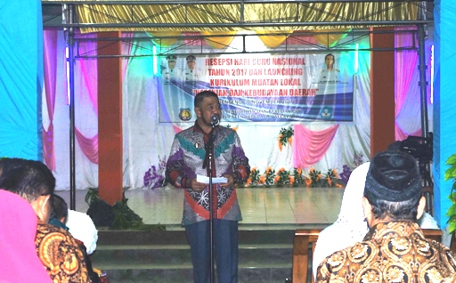 Wabup Launching Kurikulum Muatan Lokal, Kesenian Dan Kebudayaan