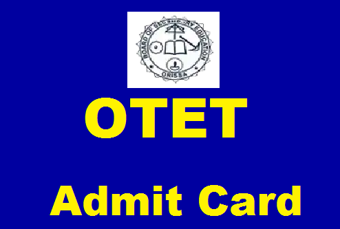 OTET Admit Card download